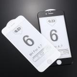 4D Premium 9 H Kaca Sutra Pelindung Layar Cover Guard Untuk Iphone 6 Internasional Asli