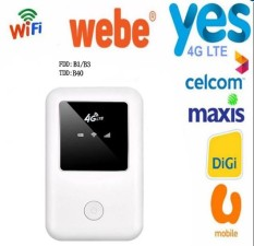 4G Wifi Router 100 Mbps Seluler Hotspot MiFi Modem Broadband untuk Digi, Celcom, Maxis, U Seluler, Ya 4G, Webe-Internasional
