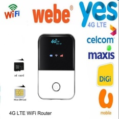 4G Wifi Router Mobile Hotspot Portable Mifi Modem Ulocked Dongle Wireless Broadband For Digi,Celcom,Maxis,U Mobile,Yes 4G,WEBE - intl