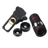 Diskon 4 In 1 Kamera Eksternal Lensa Sudut Lebar Mata Ikan Makro 10 X Tele For Handphone Hitam Internasional Vakind Hong Kong Sar Tiongkok