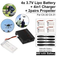 Harga 4In1 Usb Charger 3 7V 650Mah Battery For Mjx X200 Cx 30 Rc Helicopter Rc222 Termurah