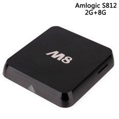 4 K Android TV Box M8 Amlogic S812 Quad Core 2g/8 GB Smart TV Box Android 4.4 Kitkat OS Mendukung TF Kartu 3D HDMI Set Top Box