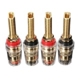 Jual 4 Pcs Audio Speaker Binding Post Panjang Thread Banana Plug Terminal Berlapis Emas Internasional Ori