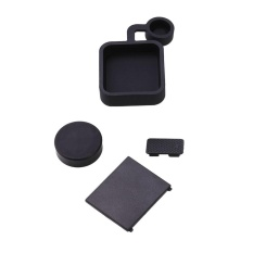 4 Pcs Pelindung Lensa Pintu Baterai Case Cap Kit Tutup untuk GoPro HERO 3 + 4 Kamera-Intl