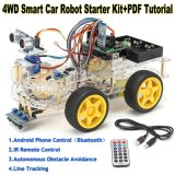 Spesifikasi 4Wd Smart Car Robot Starter Kit Programmable Robot For Arduino Style One Intl Lengkap