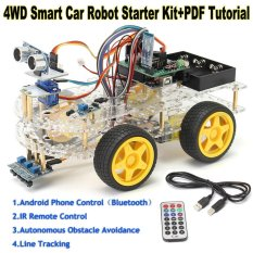 Berapa Harga 4Wd Smart Car Robot Starter Kit Programmable Robot For Arduino Style One Intl Di Indonesia