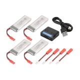 Jual 4X 3 7V 800Mah Battery Charger W Convert Cable For Holy Stone F181 F181C Bc689 Intl Xcsource Murah