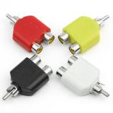 Promo 4 X Rca Pembelah Y Av Audio Video Konverter Steker 1 Laki Laki For 2 Wanita Adaptor Kabel Internasional Oem Terbaru