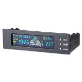 Beli 5 25 Inci Lcd Panel Depan Bay 3 Pengendali Kecepatan Kipas Cpu Sensor Suhu Dengan Kartu Kredit