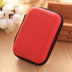 Harga 5 Warna Eva Pu Mini Tas Penyimpanan Gadget Organizer Portable Case Untuk Earphone Intl Branded