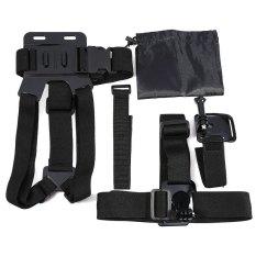 Harga Action Camera 5 In 1 Aksesori Kit Dada Tali Kepala Tali Wriststrap Wifi Terpencil Pergelangan Tangan Tali Penyimpanan Tas Asli