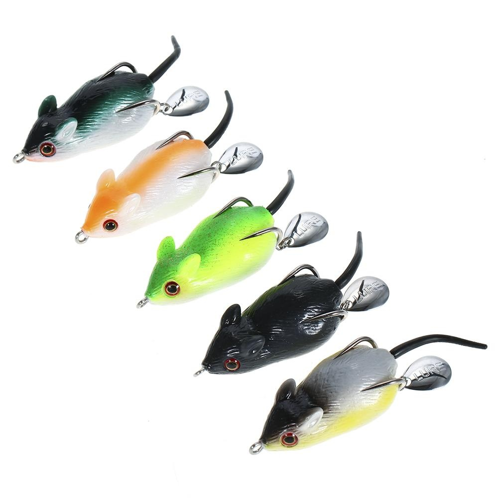 Jual 5 Pcs Mouse Fishing Lure Freshwater Mice Fishing Bait Set Top Air Umpan Kit Fishing Tackle Snakehead Bait Intl Not Specified