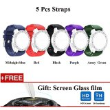 Review 5 Pcs Sports Silicone Bracelet Strap Band For Samsung Gear S3 Classic S3 Frontier Intl Di Tiongkok