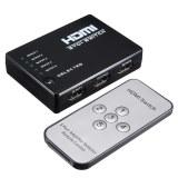 Toko Jual 5 Port 1080P Video Hdmi Pembelah Kotak Beralih Saklar Untuk Hdtv Ps3 Dvd Inframerah Remote