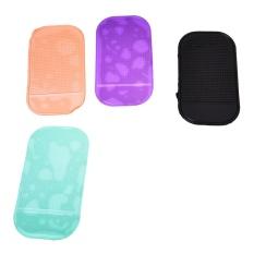 5 X Car Anti-slip Pad Adhesive Holder Pad untuk Ponsel, Navi Seperti HTC IPHONE 6 5 S 5C, Pink/Hitam/CLEAR/Hijau/Ungu-Intl