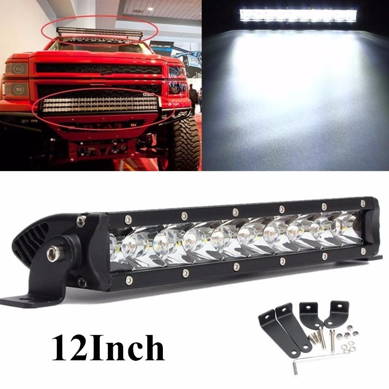 Iklan 50 W Cree Single Row Led Spot Work Light Bar 12 Inch 4Wd Offroad 4X4 Untuk Truk Suv Intl