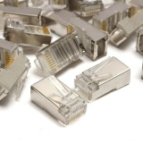 Jual 50 Pcs Rj45 Cat6 8Pin 8C Shieldedstranded Crimp Modular Plug Konektor 20Mmx10Mm Murah