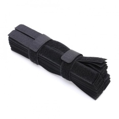 Jual 50 Pcs Lot Reusable Kawat Organizer Kabel Holder Magic Tape Ties Bukti Cuaca Cord Lead Tali Termurah