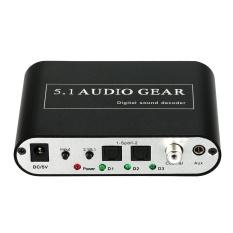 Review 5 1 Audio Decoder Gear Dts Ac 3 Digital Suara Untuk 5 1 2 1 Analog Output Converter Untuk Stb Dvd Player Hd Player Xbox 360 Us Plug Intl Terbaru