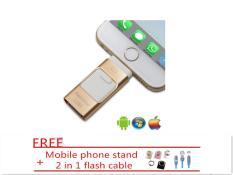 Beli 512 Gb 3 In 1 Mini Logam Usb Pen Drive Otg Flash Drive Untuk Iphone 5 5 S 5C 6 6 Plus 7 7 Plus Ipad Android Pc Gold Putih Intl Yang Bagus