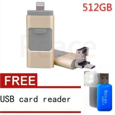 Harga 512Gb I Easy Drive Smart Phone U Disk 3 In 1 Otg Usb Flash Drive For Iphone 5 6S 6 Plus 7 7 Plus Ipad Pc Usb Card Reader Intl Fullset Murah