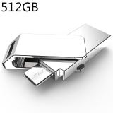 Beli 512Gb New Usb3 High Speed Data Transmission Waterproof Portable Dual Plug Otg Usb Metal U Disk For Android Rotate U Disk Silver Intl Lengkap