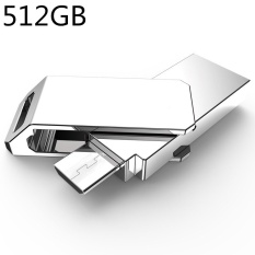 512Gb New Usb3 High Speed Data Transmission Waterproof Portable Dual Plug Otg Usb Metal U Disk For Android Rotate U Disk Silver Intl Di Indonesia