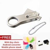 Jual Beli 512Gb Stainless Steel Rotating Folded Otg Usb Flash Pen Drive Key Pendant U Disk Smartphone Dual Interface Memory Stick Intl Tiongkok