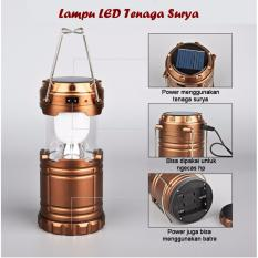 51NEW Lampu Lentera Camping / Emergency Solar Cell + Powerbank + Senter