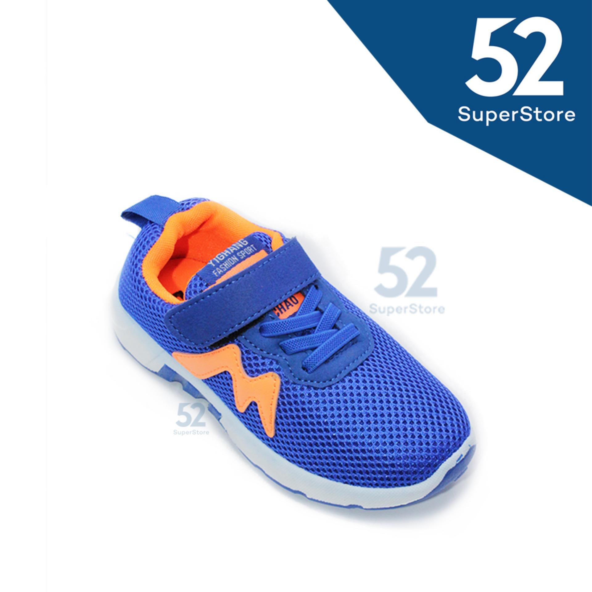 52 Fashion Sepatu Sport Anak 1611-112 - Navy - Size 31-36