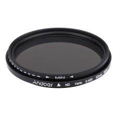 Promo 52 Mm Dapat Disesuaikan Kepadatan Netral Nd Fader Nd2 Untuk Nd400 Variabel Filter Untuk Canon Nikon Dslr Kamera Akhir Tahun