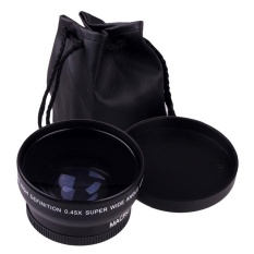 52 Mm 0.45X Sudut Lebar Lensa Makro untuk D5000 D5100 D3200 D3100 D90-Intl