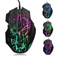 Penawaran Istimewa 5500 Dpi Colorful Led Optical Usb Wired Gaming Pro Mouse Mouse Untuk Pc Laptop Hitam Terbaru