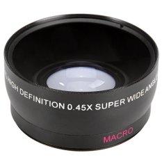 58mm 0.45X Super Wide Angle Makro Lensa untuk Canon EOS 500D Rebel T1i T2i (HITAM) (Intl)-Intl