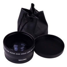 58 Mm 0.45X Makro Sudut Lebar Lensa untuk Canon EOS 450D 500D 550D 600D 1100D-Intl