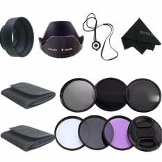 58 Mm Perlengkapan Filter Uv CPL Polarizer ND2 4 8 untuk Canon EOS 1200D 750D 700D 600D Lensa-Intl