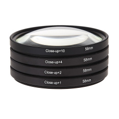 58 Mm Menutup Lensa Makro Menggunakan Perlengkapan Filter + 1 + 2 + 4 + 10 Canon EOS 650D 600D 18