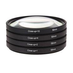 58mm Macro Close Up Filter Lensa Kit + 1 + 2 + 4 + 10 untuk EOS 650D 600D 18