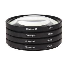58mm Macro Close Up Filter Lensa Kit + 1 + 2 + 4 + 10 untuk Canon EOS 650D 600D 18-Internasional