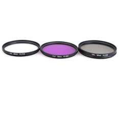58 Mm UV CPLE FLD Kit Filter untuk Canon EOS 500D 550D/Rebel T3i T2i T1i SLR