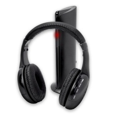 Obral 5In1 Hi Fi Wireless Headphones Earphone Headset For Pc Laptop Tv Fm Radio Mp3 Intl Murah