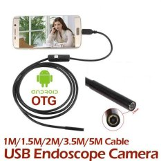 USB Android Endoscope Inspection 5M 7MM IP67 Borescope LED Tube Video Camera - intl