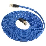 Spesifikasi 5M Durable Strong Cat 7 Cat7 Rj45 10Gbps Ethernet Flat Cable Lan Network Cord Online