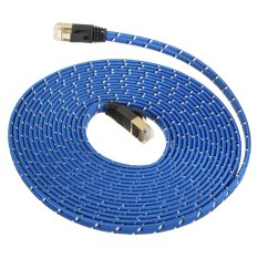 Jual Beli Online 5M Durable Strong Cat 7 Cat7 Rj45 10Gbps Ethernet Flat Cable Lan Network Cord