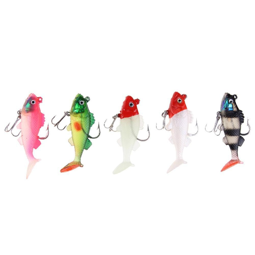 Beli 5Pcs 10G 7Cm Soft Silicone Fishing Lure Baits With Jig Hook And Treble Hook Intl Cicilan