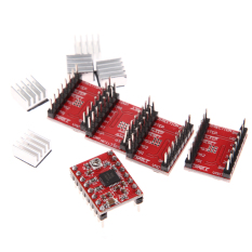 5 Buah A4988 Reprap Stepstick Pololu A4988 Sopir Stepper Untuk 3D Landai 1 4 Terbaru