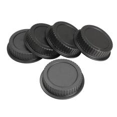 5 Pcs Belakang Tutup Lensa Pelindung Debu untuk Canon EF Ialah-S EOS Seri Lensa Hitam-Intl