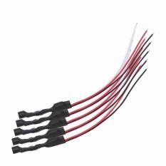 Ulasan Tentang 5 Pcs Sensitif Keamanan Mikrofon Audio Dc Power Kabel Untuk Kamera Cctv Dvr Intl