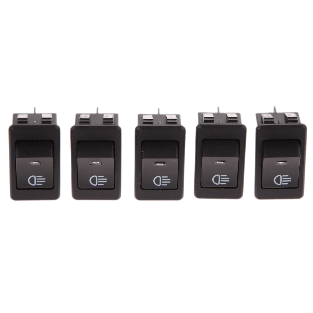 Jual 5Psc 12 V 35 Amp Mobil Goyang Atur Saklar Otomatis Lampu Kabut Biru Led Dasbor Satu Set