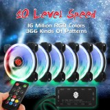 Jual 6 Pack 1800Rpm Rgb Led Quiet Computer Case Pc Cooling Fan 120Mm Remote Control Intl Baru